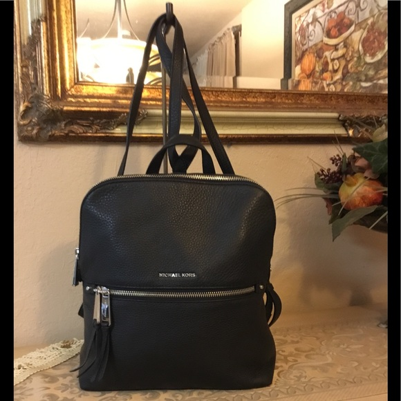 7d5e35ad45 Michael Michael Kors Rhea slim backpack black  175